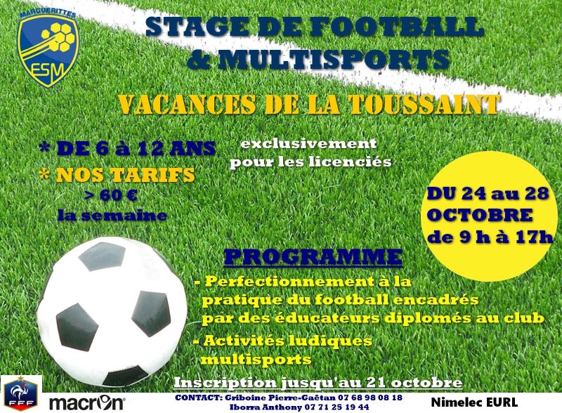 Stage de football Toussaint ESM
